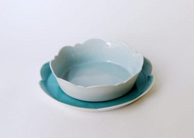 assiettes-creuses-mamie-fleur-porcelaine-bleu